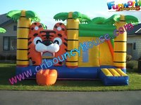 Tiger King Inflatable Combo Bouncer Slide,Jumping castle with slide (COM-407)