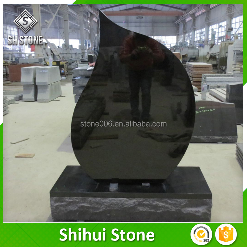 New designed black funeral monuments with fair prices