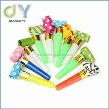 Custom wholesale Cheering Props Colorful Cheap Dragon Blowing Whistles party horns