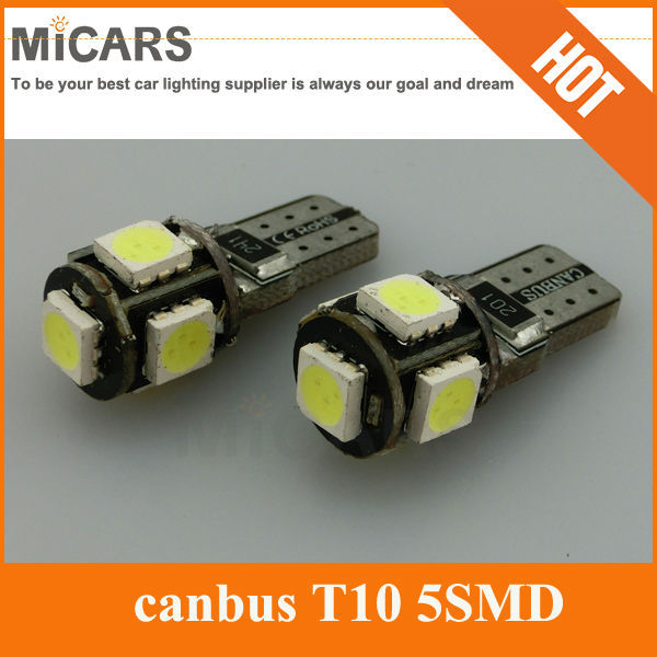NEW!!! T10 5 SMD 5050 LED canbus error free LED car light with high lumen