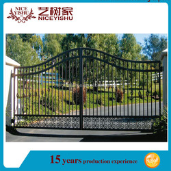 China supplier new hot wrought iron decorative wrought iron steel main gate/wrought iron gate