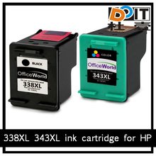 343xl remanufactured ink cartridge for HP printer ink cartridge