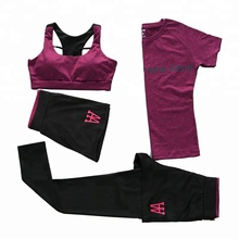PT Sports Women Yoga Fitness Gym Sports Athletic Wear Running Clothes 4 Pieces Sports Sets