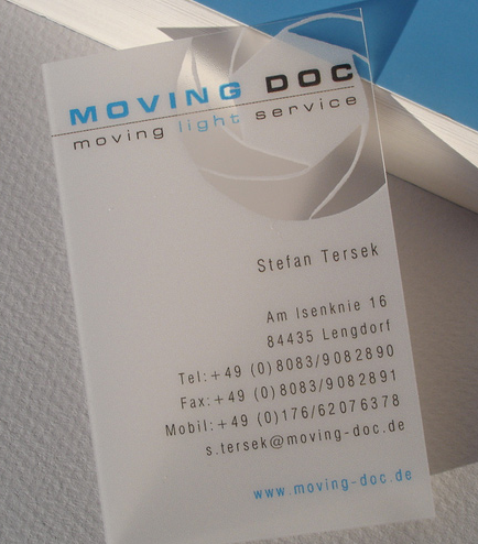 Custom PP Frosted Translucent Business Cards