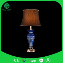 CE approved laser cut gauze fabric metal holder indoors room table lamp