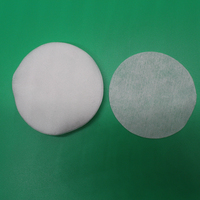 Disposable nonwoven spunlace round cotton cosmetic facial pads