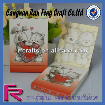 Cartoon Dog Printed Custom Sticky Memo Pad