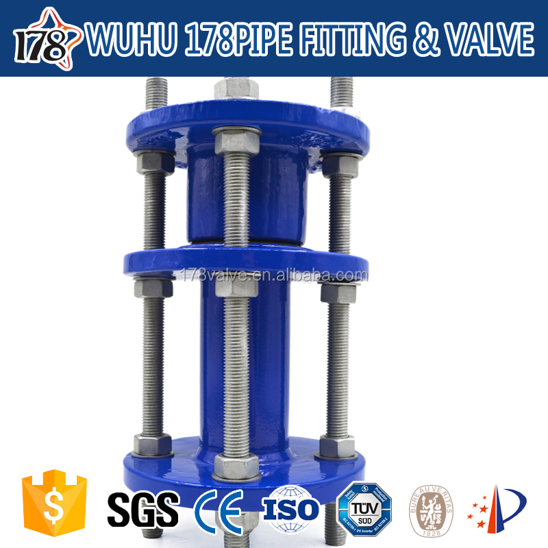 Dismantling joint Ductile iron pipe fittings high pressure pvc pipe fittings