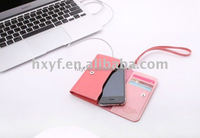 Wholesale colorful waterproof leather mobile phone cover wallet cases