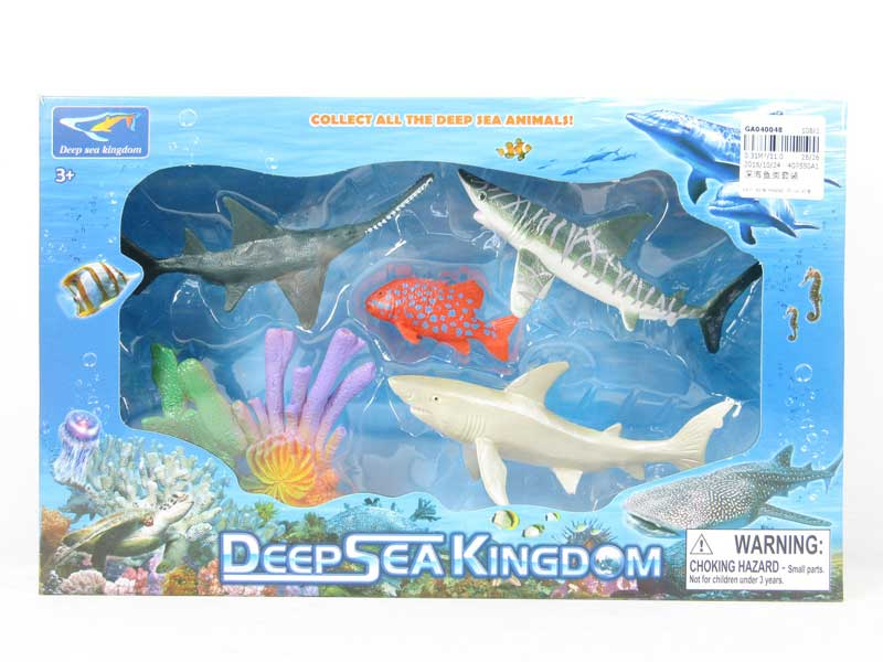 underwater world deep sea fish set animal toy EN71 GA040048