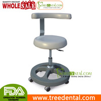 TR-027 Medical Doctor Stools Medical Office Dentist Chair with Bar Ring, Microfiber Leather,adjutable dental laboratory stool