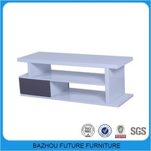 Cheapest price white high gloss woodeTV stand wholesale