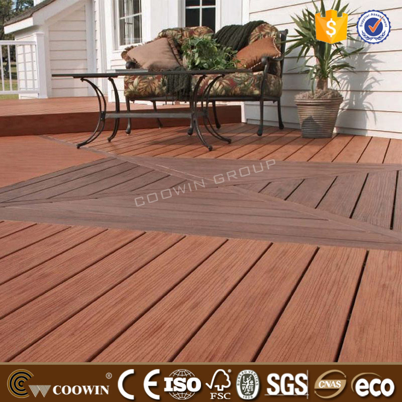 WPC laminate flooring outdoor patio WPC wood flooring light weight WPC decking floor