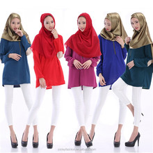 Muslim Tops Blouse For Ladies Islamic Tops Traditional Clothing Chiffon Long Sleeve Clothes Middle East Saudi Arabia Shirt B045