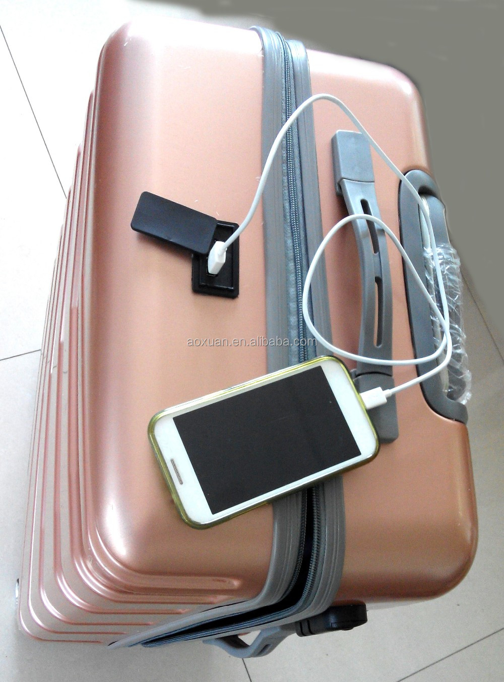 USB charger luggage 2016 new luggage usb charger luggage