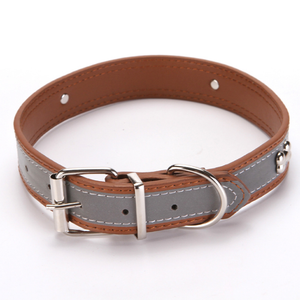 New Season Product White Dog Collar Real Leather Dog Collar Premium