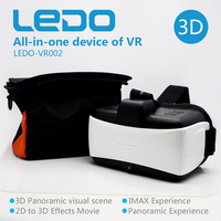 Cheapest price all in one 3D glass box VR case VR viewer for virtual reality film