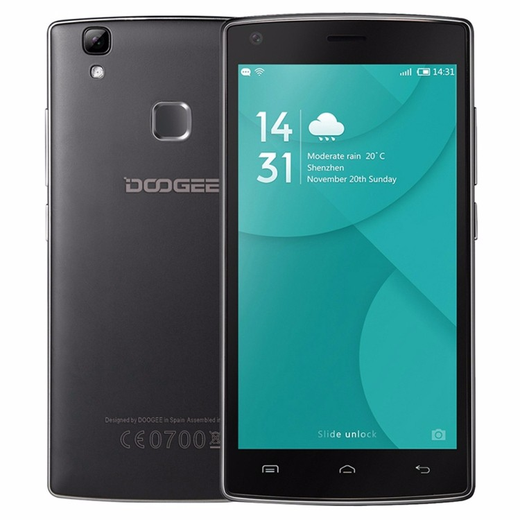"Original DOOGEE X5 MAX 4000mAh Android 6.0 Fingerprint Cellphone 5.0"" 1280*720 IPS Smartphone MTK6580 1GB + 8GB 8MP Mobile Phone"