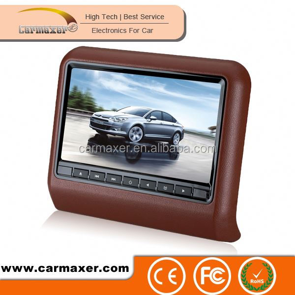 2016 Hot selling easy to install 7/9inch 9 inch car headrest mount portable dvd player