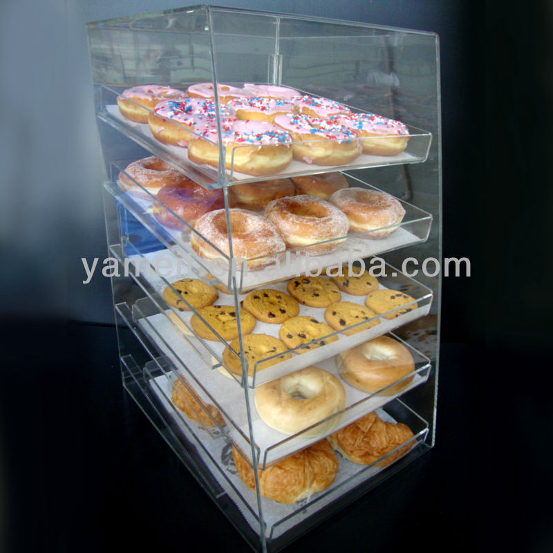 Transparent acrylic 4 layers bread and cake display