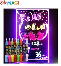 A frame led writing board - free standing advertising board - kids erasable drawing board