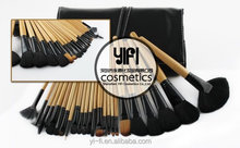Professional cosmetics manufacture 24 pcs wood handle cheap makeup brush set