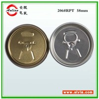 Pear Pineapple Peach Pulpy beverage silver ring Free sample high quality easy open end factory
