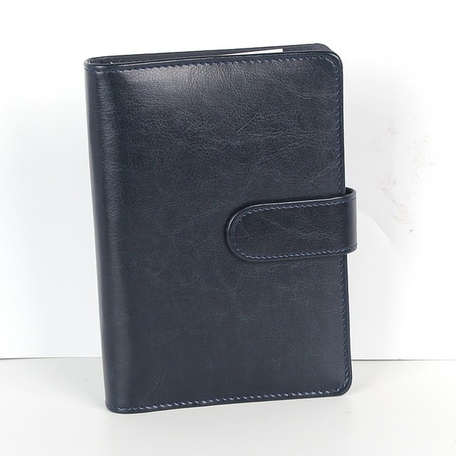 custom a4/a5 size perfect bound soft cover PU leather note book with bucking closure