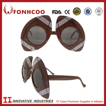FONHCOO Hot Promotional Sunglasses Football Shaped Fans Glasses For Party