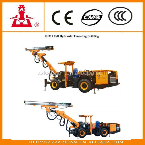 All hydraulic high performance wheel type Underground drilling rig for road construction,tunnel construction