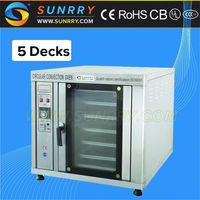 Commercial bakery equipment high efficiency 5 trays convection automatic hamburger flat bread making machine
