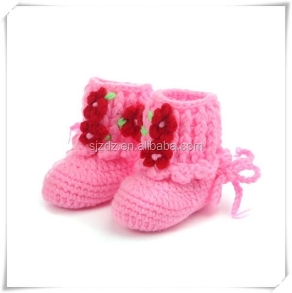 The fashion cute crochet baby booties