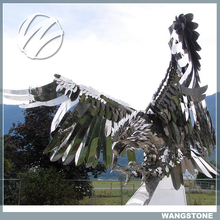 Public Garden Fierce Eagle Stainless Steel Animal Sculpture
