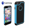2014 New coming product friendly pc+tpu+silicone protector phone case for iphone 6 cell phone case free sample 12 colors
