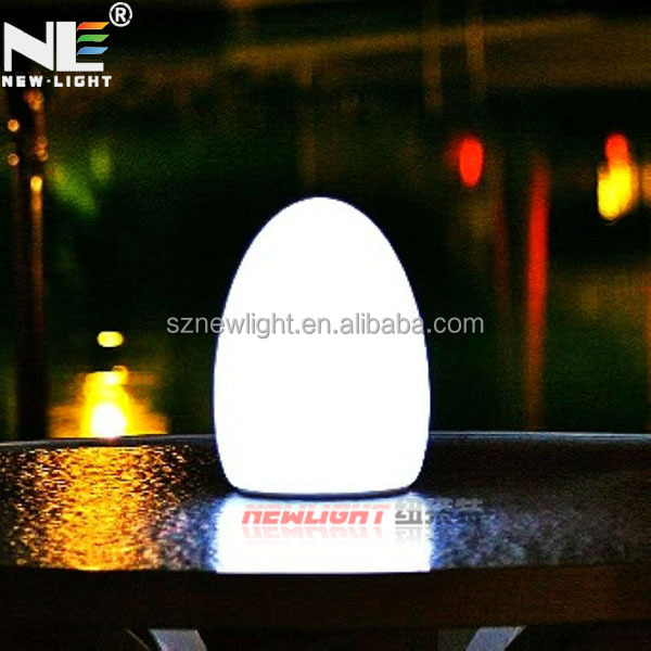 New invention waterproof color changing LED decorative table lamp, beautiful RGQ decoratiion.