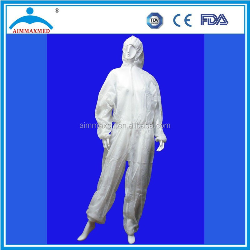 disposable type5&6 cheap flame retardant antistatic industiral medical coverall
