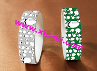 ready sale environmental material printed cool skull pattern silicone wristband making machine