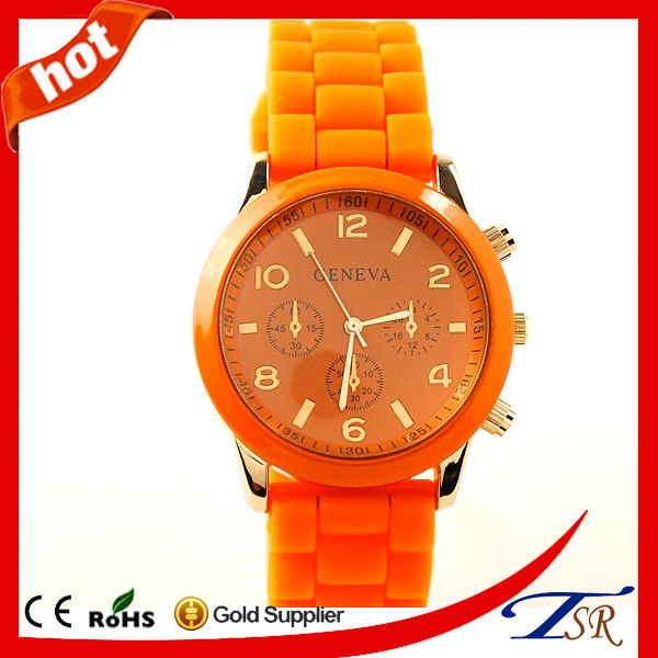 fashion trendy custom bracelet alloy silicon watch made in china