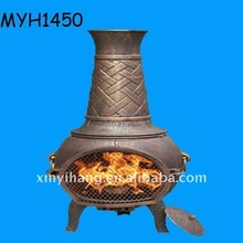 New popular terracotta chiminea basketweave garden stove