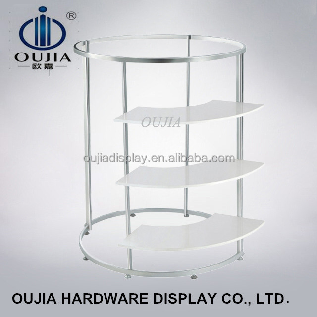 luxury circle shop clothing rack/commercial clothes rack/stand for clothing store