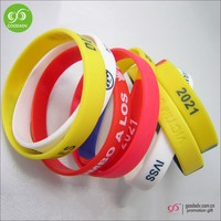 Factory supply silicone bracelet beautiful logo cheap wrist bands