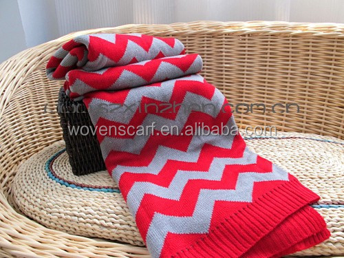 Best quality acrylic Cable Knitted crochet Blanket
