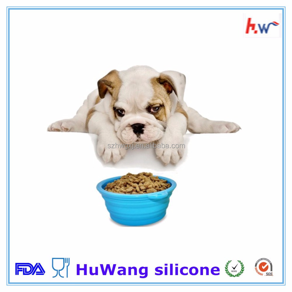 2016 NeW FDA Silicone Dog Travel Food & Water Bowl