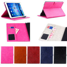 Oil wax design wallet case for iPad air 2,for i pad air 2 covers