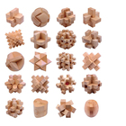Hot sale intelligence wooden 3D Luban Kongming lock puzzle toy wooden brain teasers cube game puzzle for children adult