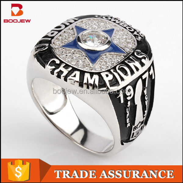Wholesale 1971 Dallas Cowboys Super Bowl custom national championship silver finger ring for men