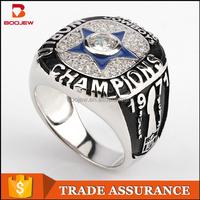 Wholesale 1971 Dallas Cowboys Super Bowl custom national championship silver finger ring for men