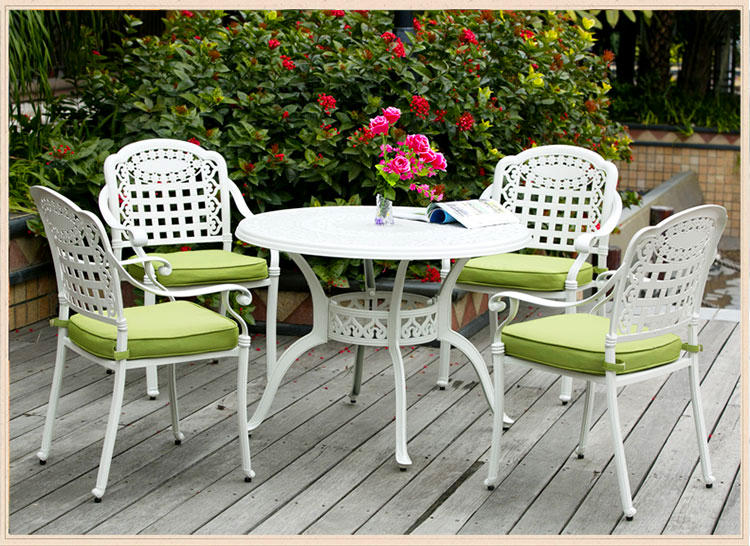wholesale antique outdoor cast aluminumg garden metal furniture  table and chair patio  for park