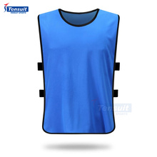 Manufacturer china sport wear soccer team plain soccer training vest dry fit sports bibs thai quality football sport kits