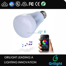music control 8w smart e27 bluetooth rgb ct led bulb 220